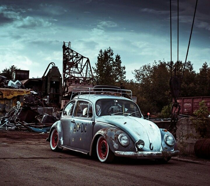 Volkswagen Beetle Retro 4k Hd Wallpaper: Rock AC/DC Beetle. Fusquinha Do Rock