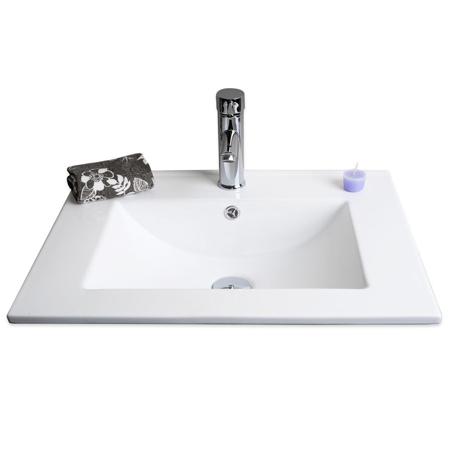 Img Flair 24 Inch Ceramic Drop In Sink Bathroom Sink Sink Square Sink
