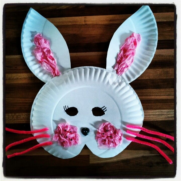 Bunny paper plate mask idea I made check my page on facebook / & Bunny paper plate mask idea I made check my page on facebook ...