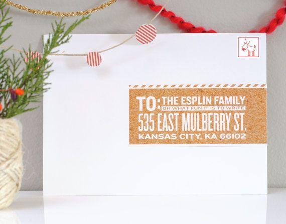 Custom Christmas Wraparound Mailing Labels Apple Cider Holiday