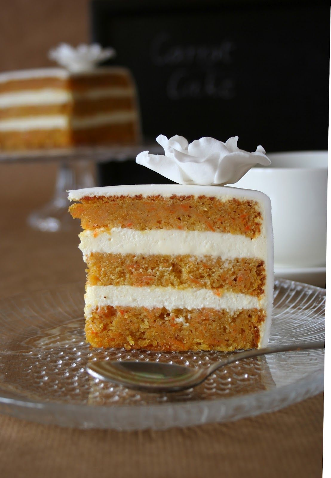 Carrot cake with Cream cheese filling and buttercream frosting