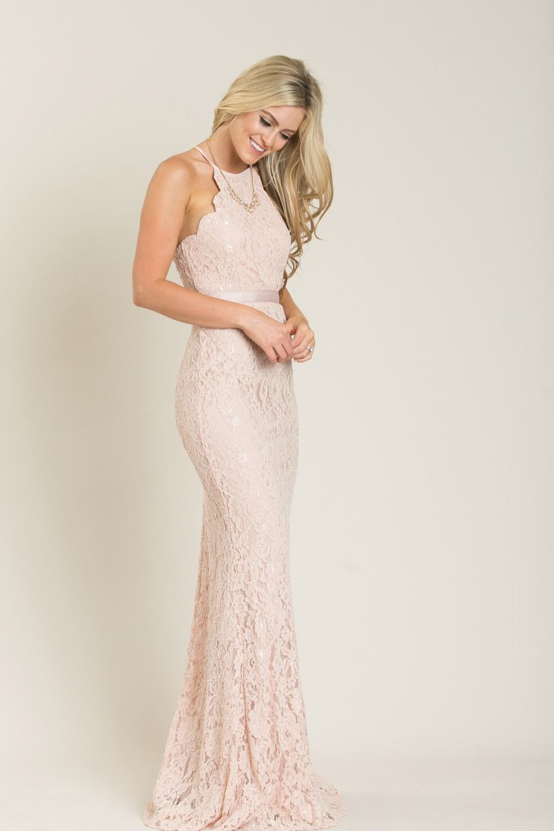 e2ccd9c2dc2 Amalia Pink Lace Maxi Dress - Morning Lavender