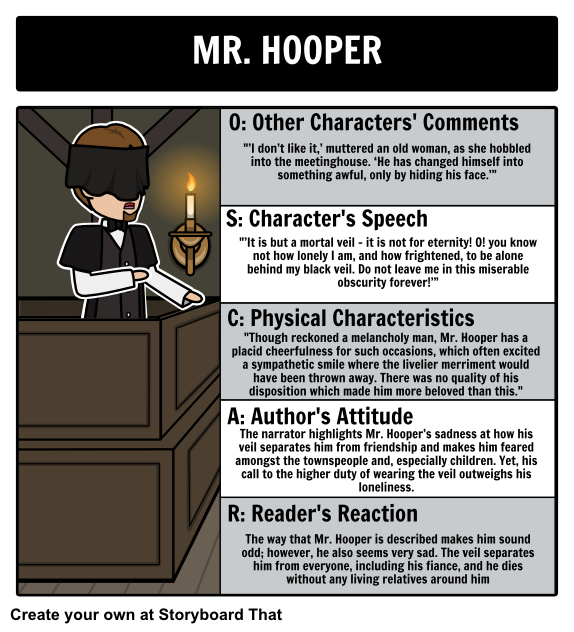 The Minister S Black Veil By Nathaniel Hawthorne Oscar Students Can Examine Mr Hooper More Closely By Using O Teaching Literature Black Veil Teacher Guides