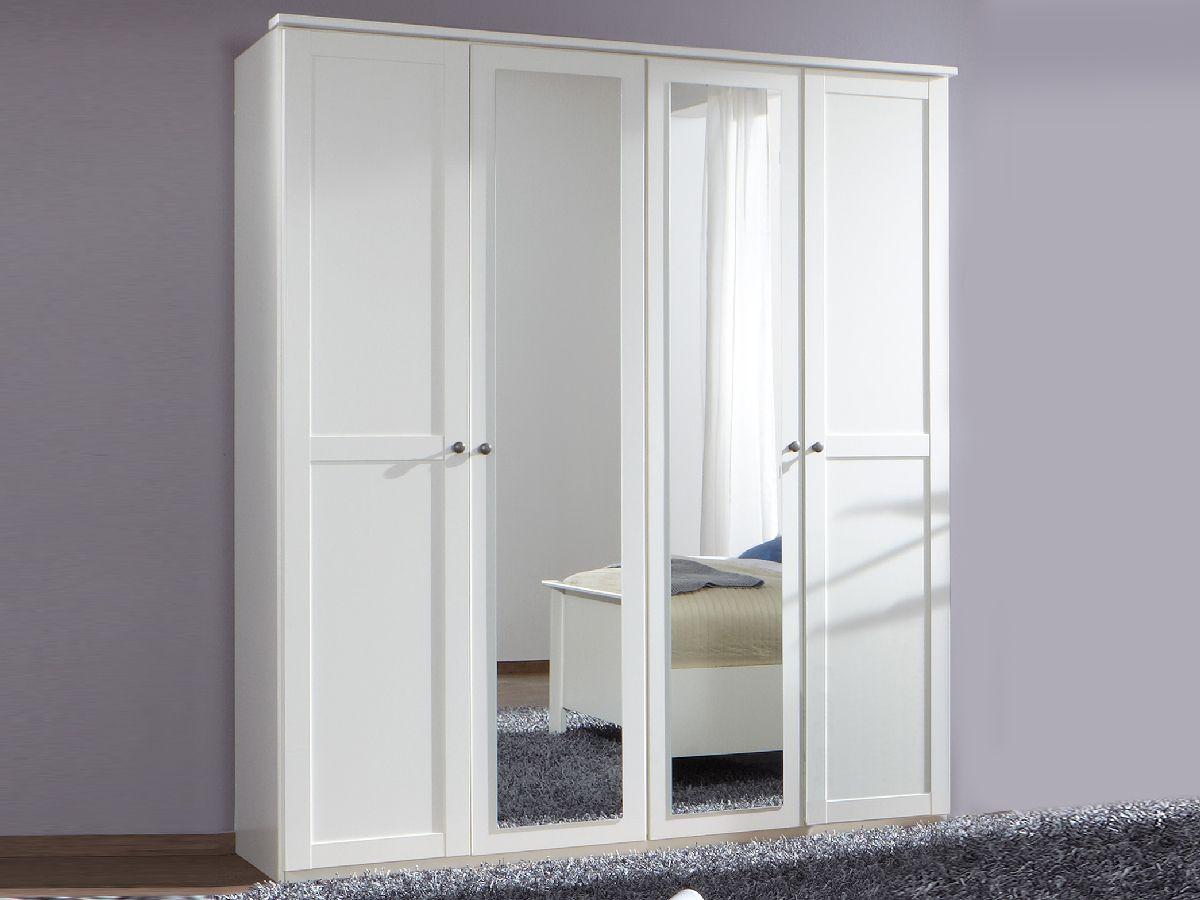 Cabella Kleiderschrank Weiss 180 Cm