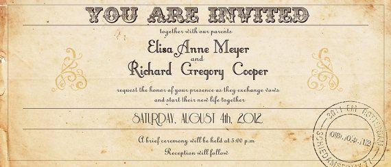 Ticket Wedding Invitation Train By Designedwithamore