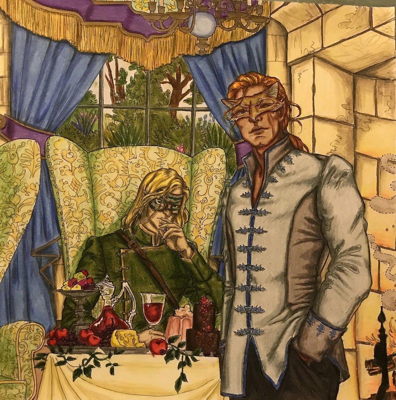 Lucien Tamlin Fan Art Rosas Serie De Livros Trono De Vidro