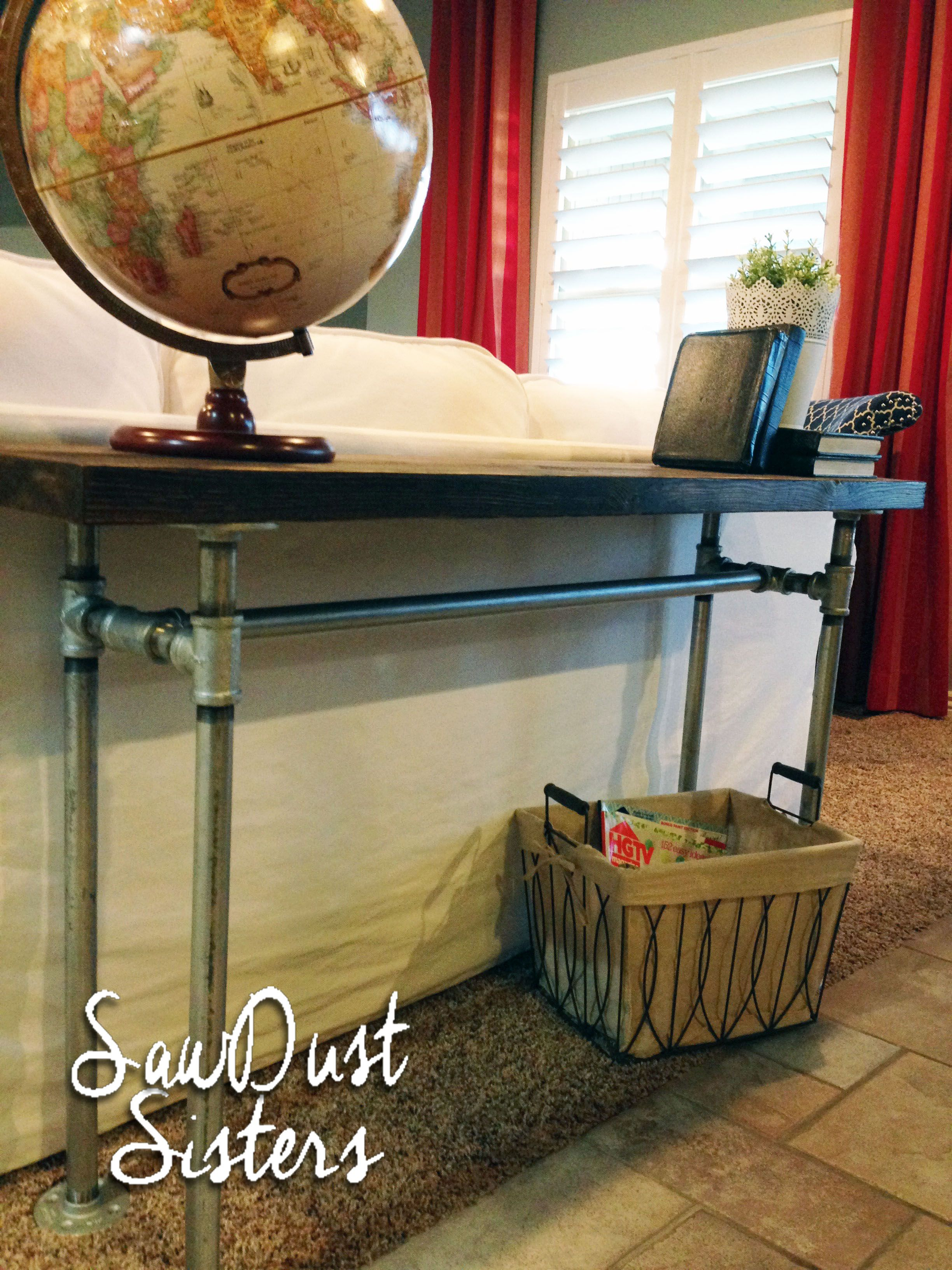 Easy diy sofa table with pipe frame sofa tables pipes and consoles easy diy sofa table with pipe frame geotapseo Choice Image