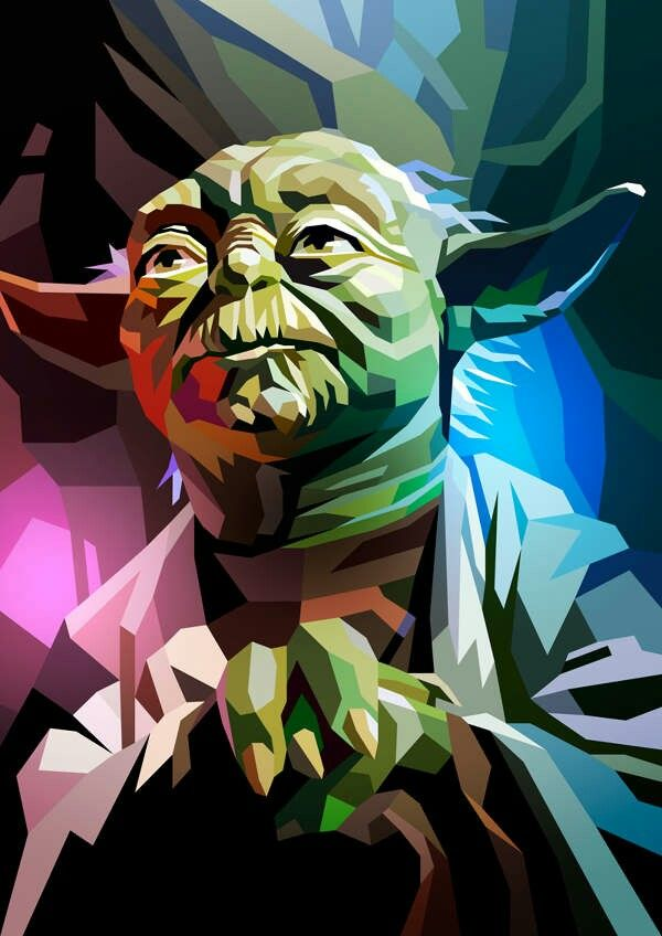 Star Wars Yoda Star Wars Painting Star Wars Illustration Star Wars Poster