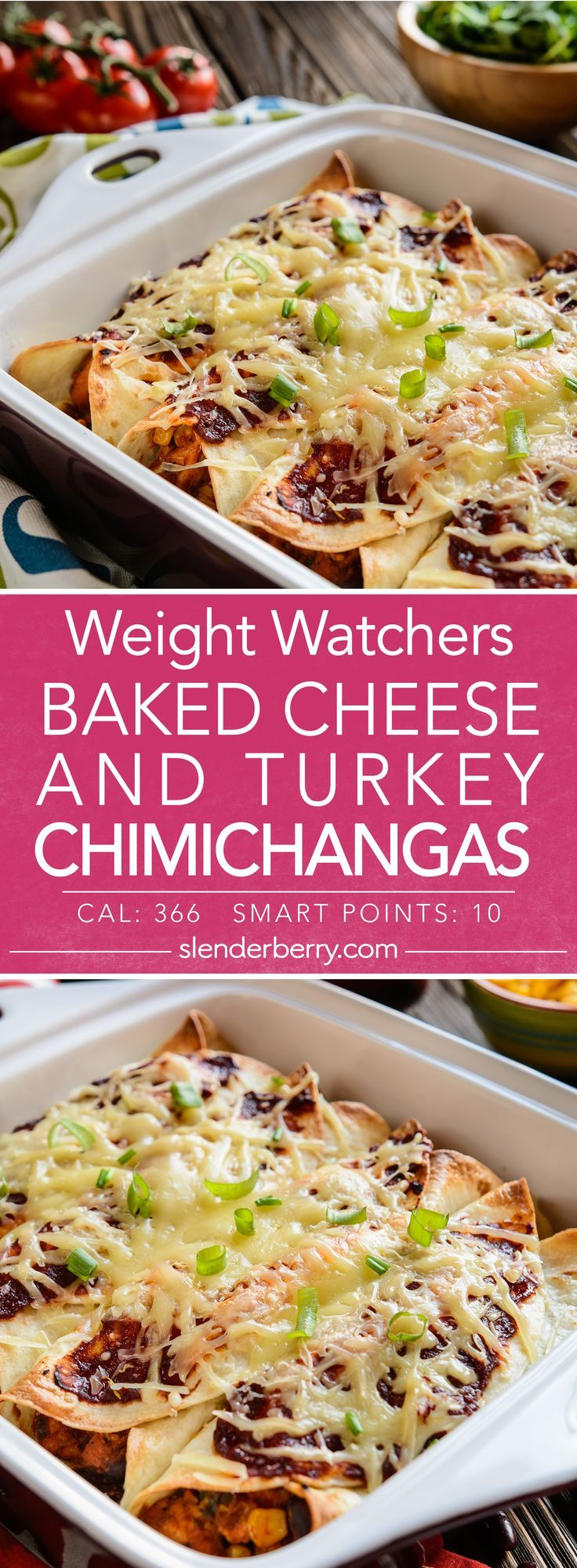 Baked Cheese and Turkey Chimichangas