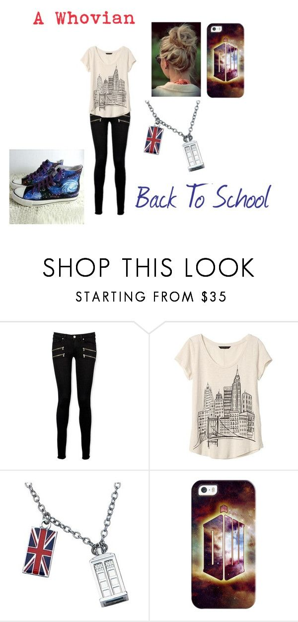 """""""A Whovian Back To School"""" by ktsongwriterrose on Polyvore featuring Paige Denim, Banana Republic, Casetify and HVBAO"""