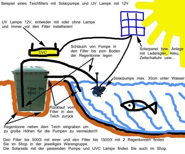 Mit dieser Bauanleitung können Sie einen Solar Teichfilter schnell