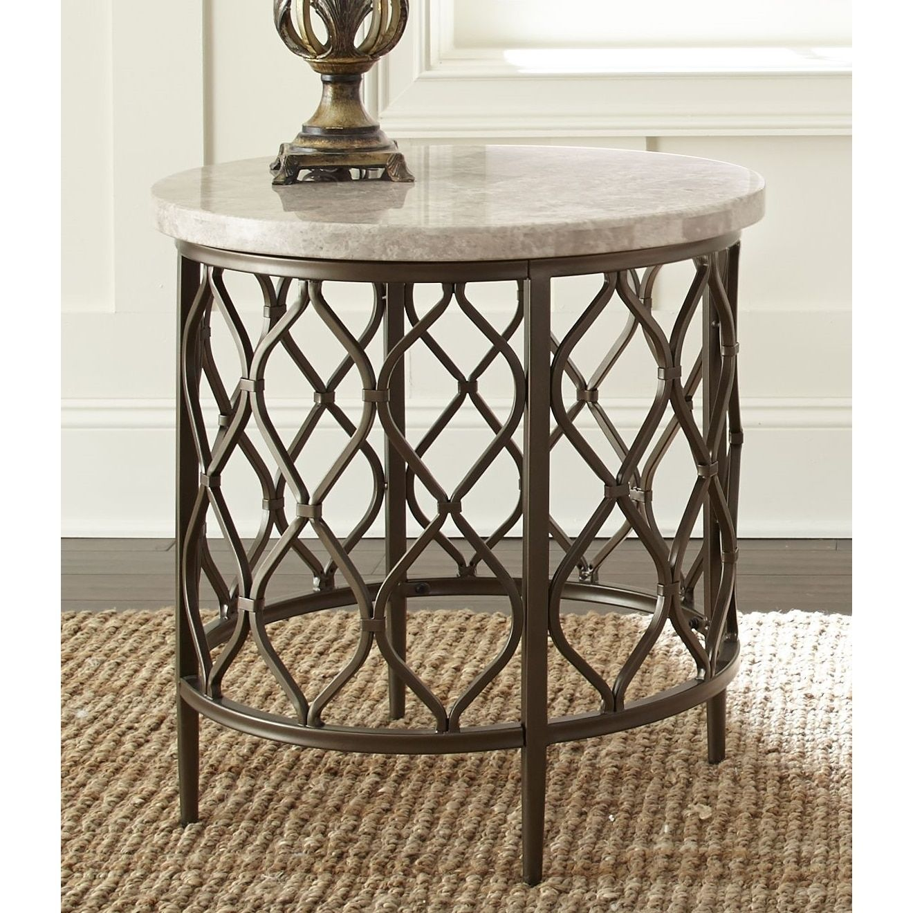 Best Rockvale Stone Top Round End Table By Greyson Living 640 x 480