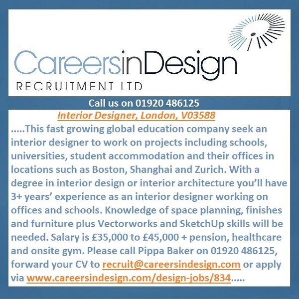 Design Job Vacancy. Interior Designer ...