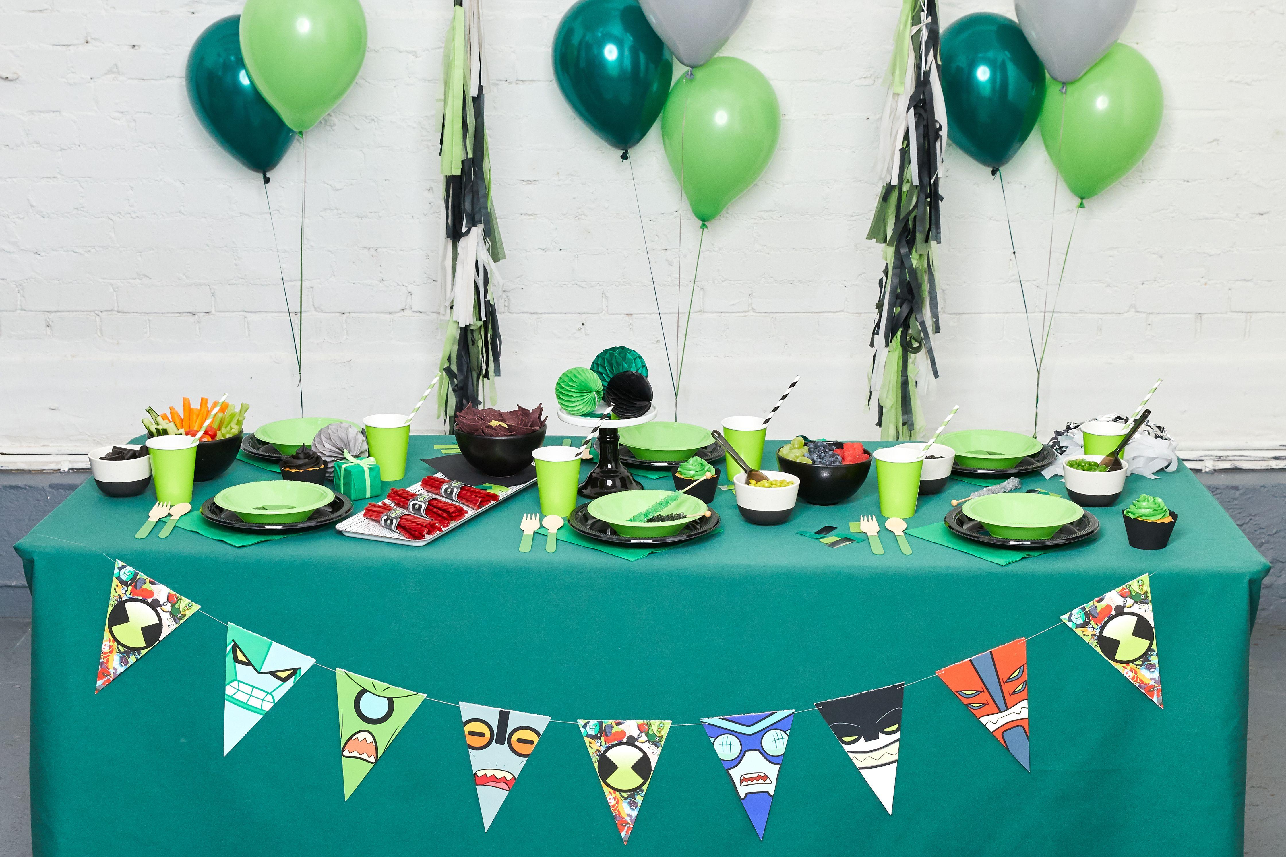 Ben 10 Birthday Party Boys Decoration Favor Tablecloth Balloon Banner