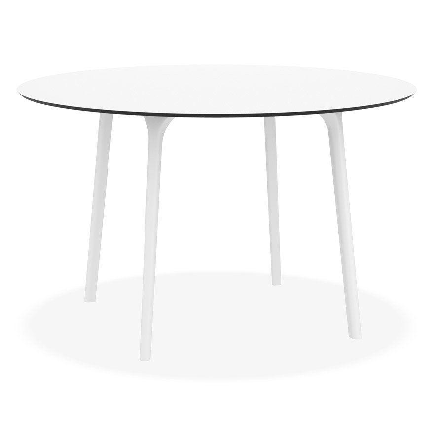 Table de terrasse ronde ´LAGOON´ blanche intérieur