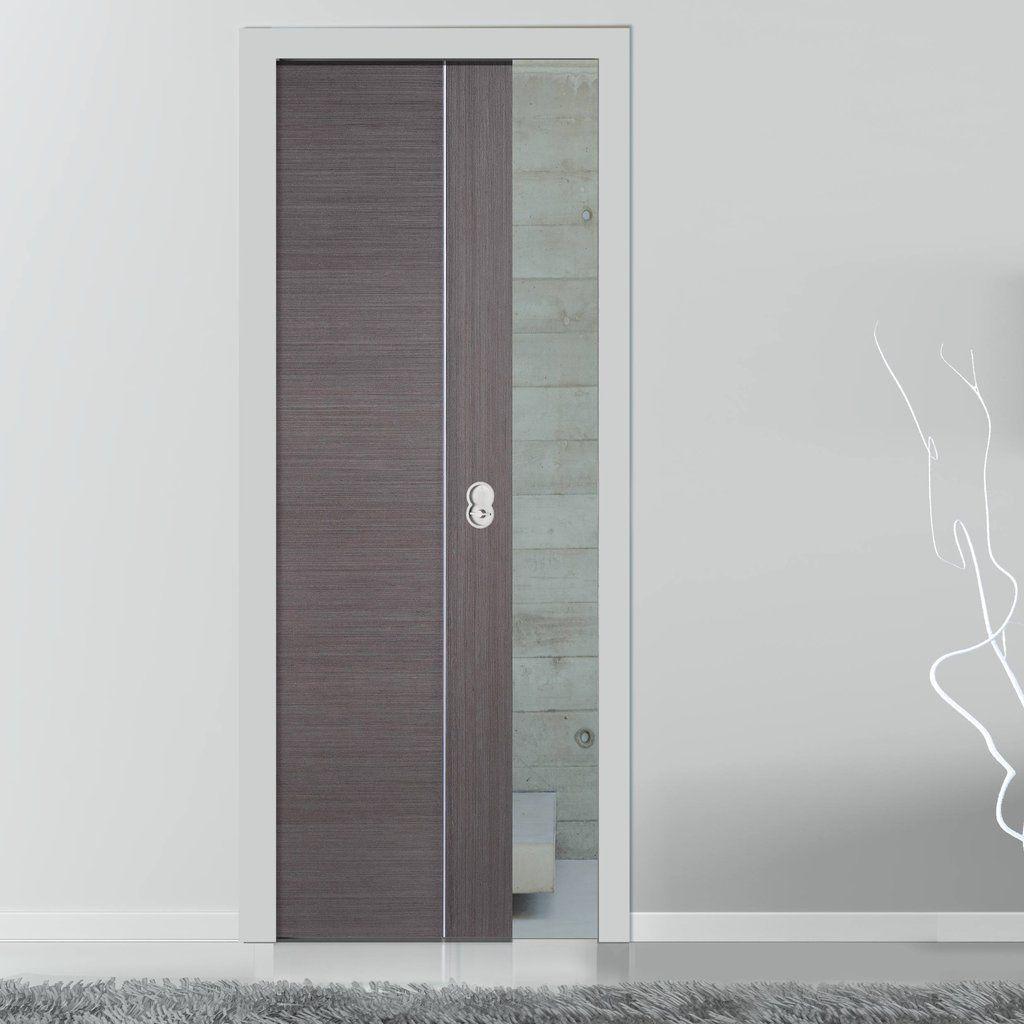 Chocolate Grey Alcaraz Evokit Pocket Fire Door 30 Minute Fire Rated Prefinished Pocket Doors Grey Interior Doors Sliding Pocket Doors