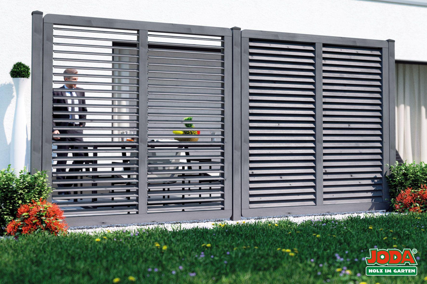 Sichtschutz mit verstellbaren Lamellen Limone