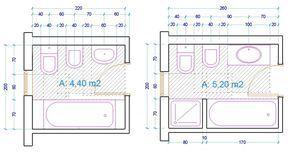 esempio dimensioni sanitari bagno con vasca | Bagno | Pinterest ...