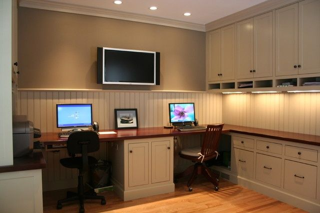 two person desk for home office Home Office 2 Person Desk Design