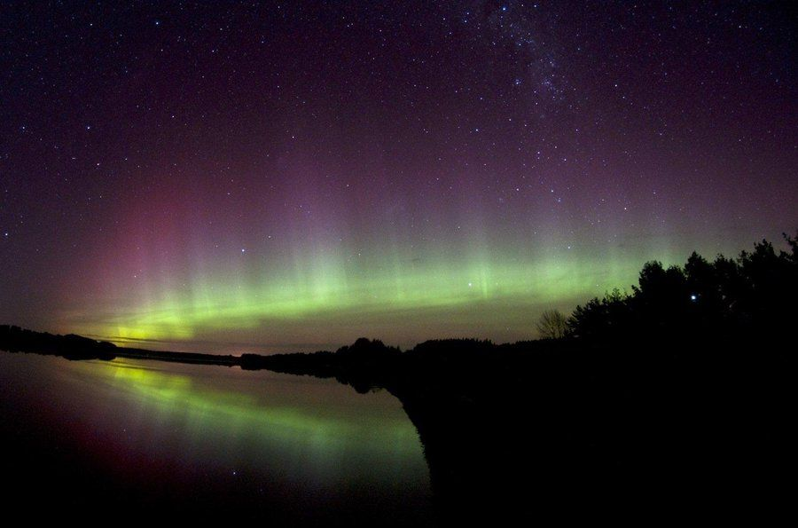 Stephen voss snapped pictures of the southern lights from