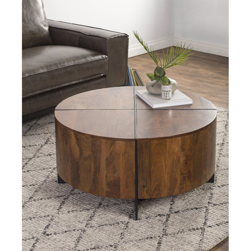 Reiban Coffee Table | Driftwood coffee table, Round coffee table, Coffee table with storage