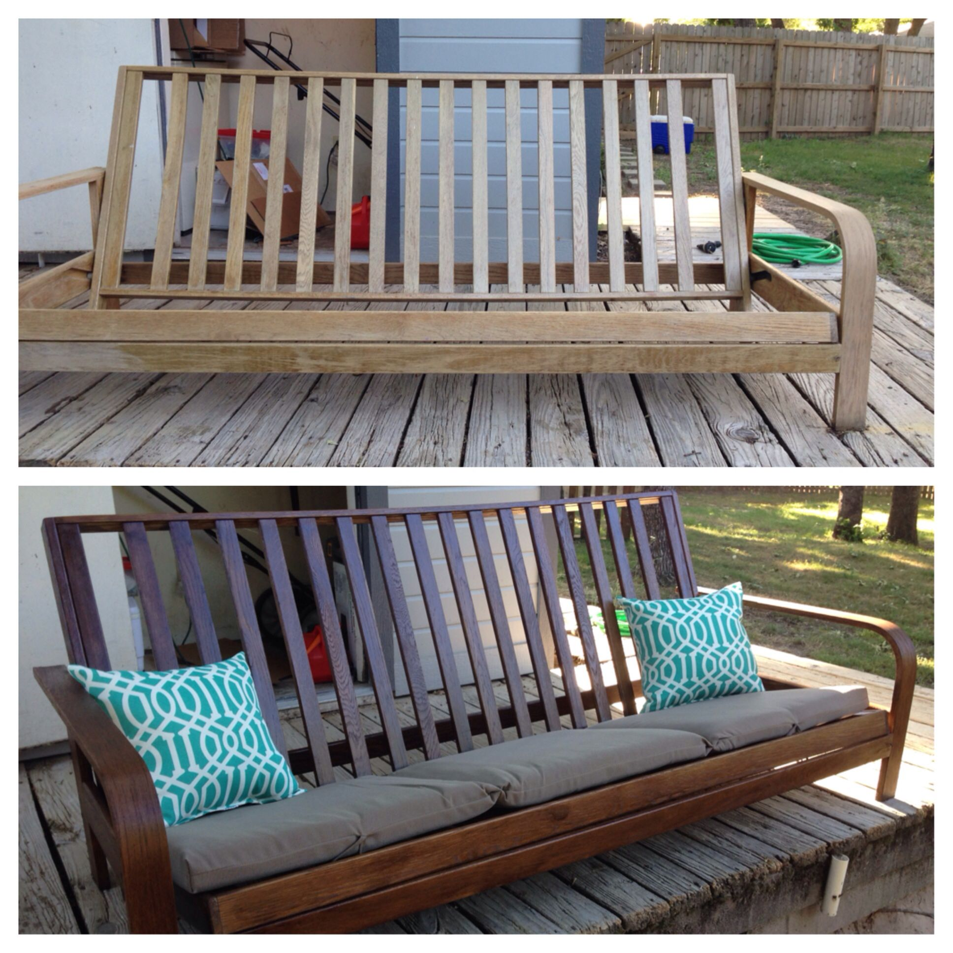Pin By Carrie Boatwright On For The Home Diy Futon Outdoor Futon Futon Frame