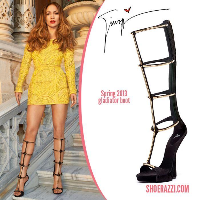 Giuseppe Zanotti Boots Jennifer Lopez Celebrity Shoes Gladiator Boots