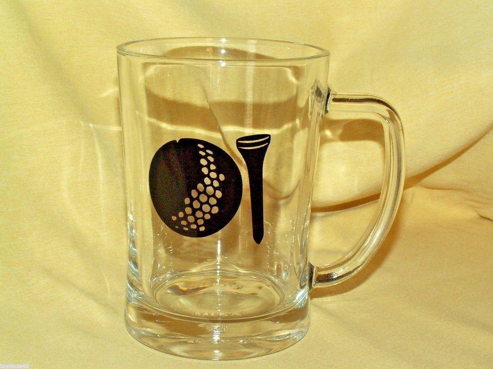 Golf Mug Ikea Beer Stein Glass Golf Ball Tee 21143 32 Large Heavy