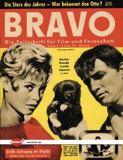 Bravo 02 57 08 01 1957 Brigitte Bardot Marlon Brando