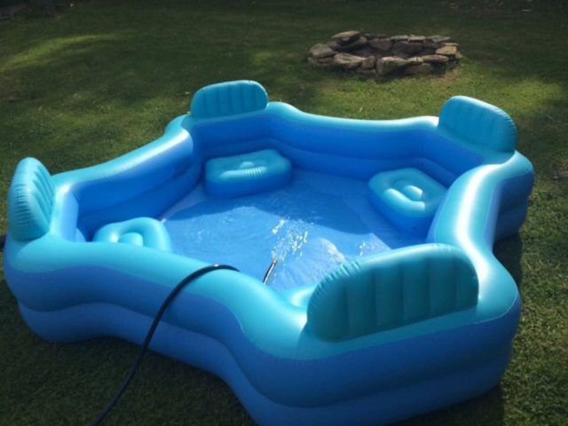 Inflatable Lounge Chair Pool Family Lounge Pool Diy Swimming Pool Pool Lounge