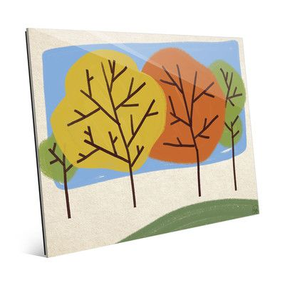 "Click Wall Art Autumn Trees Graphic Art on Plaque Size: 11"" H x 14"" W x 1"" D"