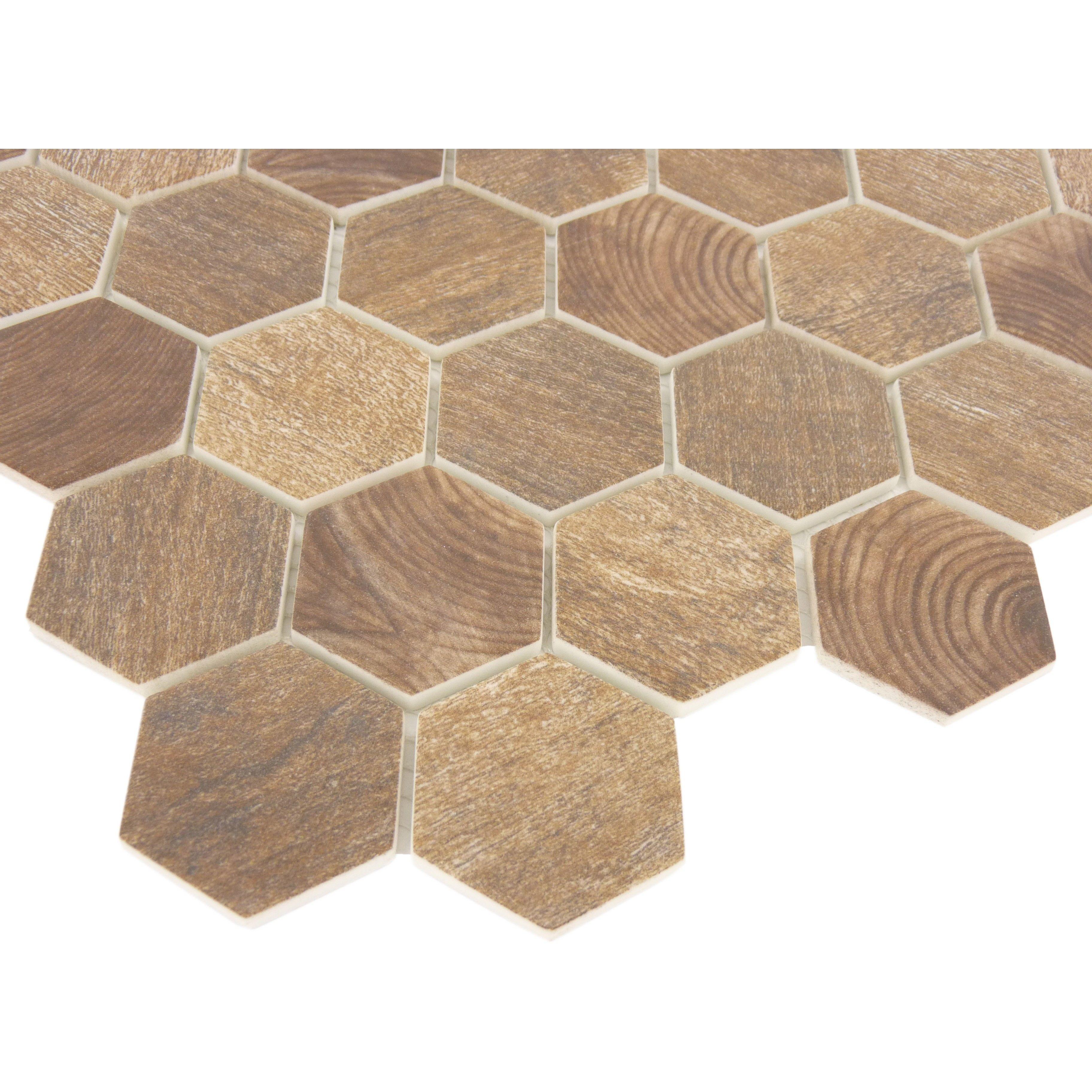 Brown Hex Floor Tile
