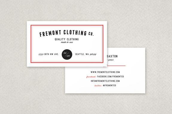 Clothing Company Business Card Template Company Business Cards Business Card Inspiration Business Cards Creative Templates