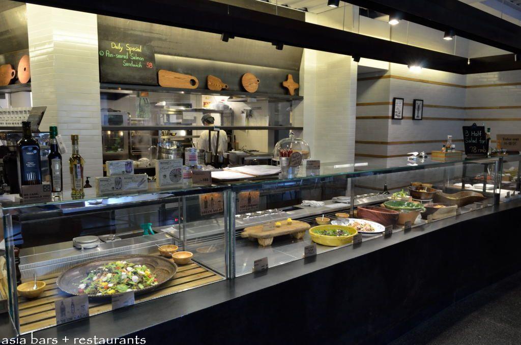 Green safe shanghai restaurant cafe design for Food bar in restaurant