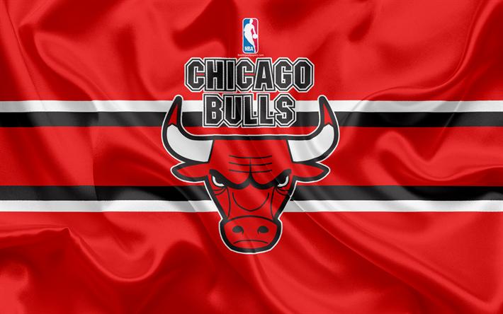Download Wallpapers Chicago Bulls Basketball Club Nba Emblem New Logo Usa National Basketball Association Silk Flag Basketball Chicago Illinois Us Ba Logo Chicago Bulls Chicago Bulls Chicago Bulls Wallpaper