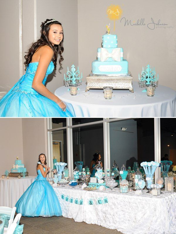 Tiffany Blue Sweet 16 Princess Candeebysandee