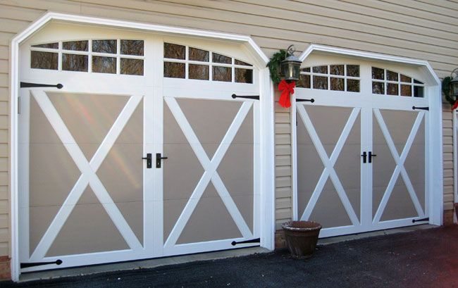 Small Changes Like Trim And Hardware Can Make Such A Big Difference These Clopay Coachman Doors Are Lovely Garage Doors For Sale Garage Doors Small Changes