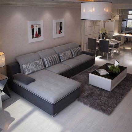 佛罗仕 布艺沙发组合现代 简约可拆洗 小户型沙发 客厅家具