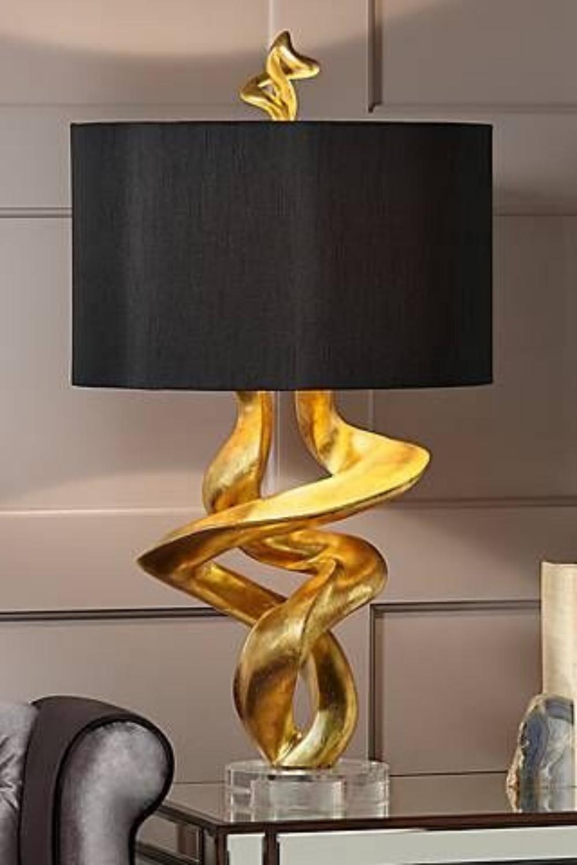 Ispirazione Lampada Da Tavolo In 2020 Gold Table Lamp Gold Lamp Table Lamp Design