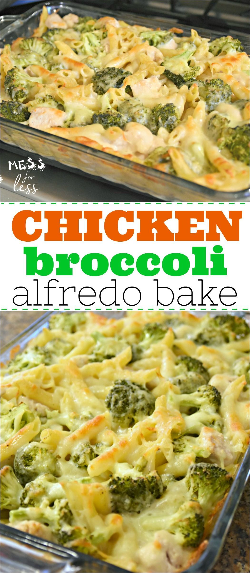 This Chicken Broccoli Alfredo Bake is a favorite in my family. It is simple and straightforward to make, as most comfort food is, and is a great way to get kids eating more protein and veggies. The creamy, cheesiness of this dish makes it a hit!