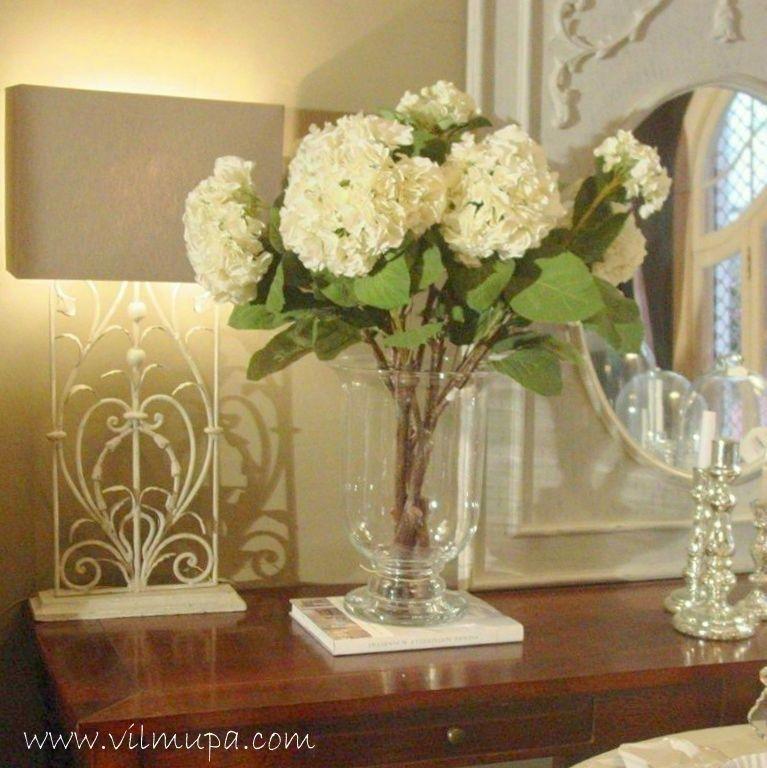 Florero cristal copa decorar con plantas y jarrones for Decorar jarrones de cristal