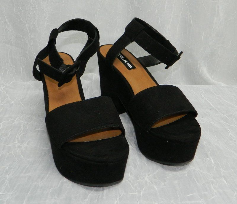 a7d8c2595bc6 LORD   TAYLOR DESIGN LAB NWT Bazar Black Suede Open Toe Sandals Shoes sz  8.5  fashion  clothing  shoes  accessories  womensshoes  heels