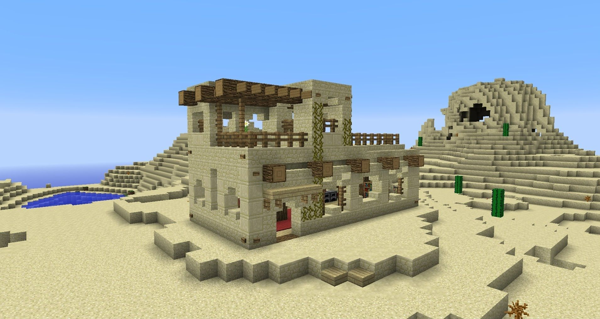 Building With Grian   Minecraft Desert House