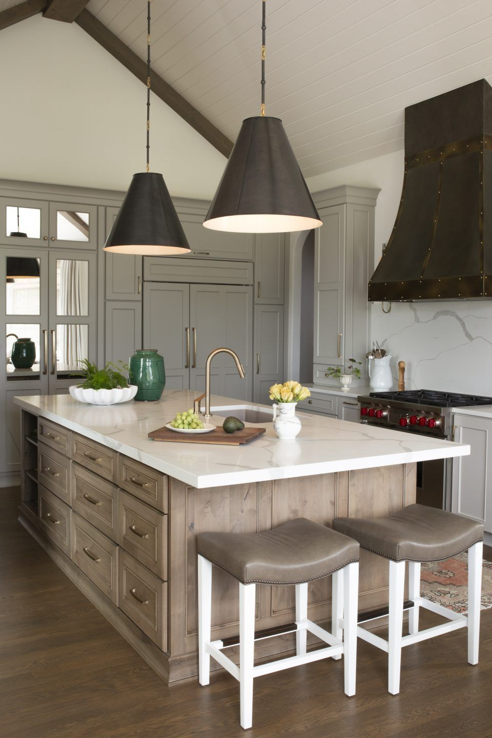 European Kitchen With Staingrade Island And Panted Cabinetry Design By R Cartwright Design Interior Design Kitchen Kitchen Design New Kitchen Cabinets