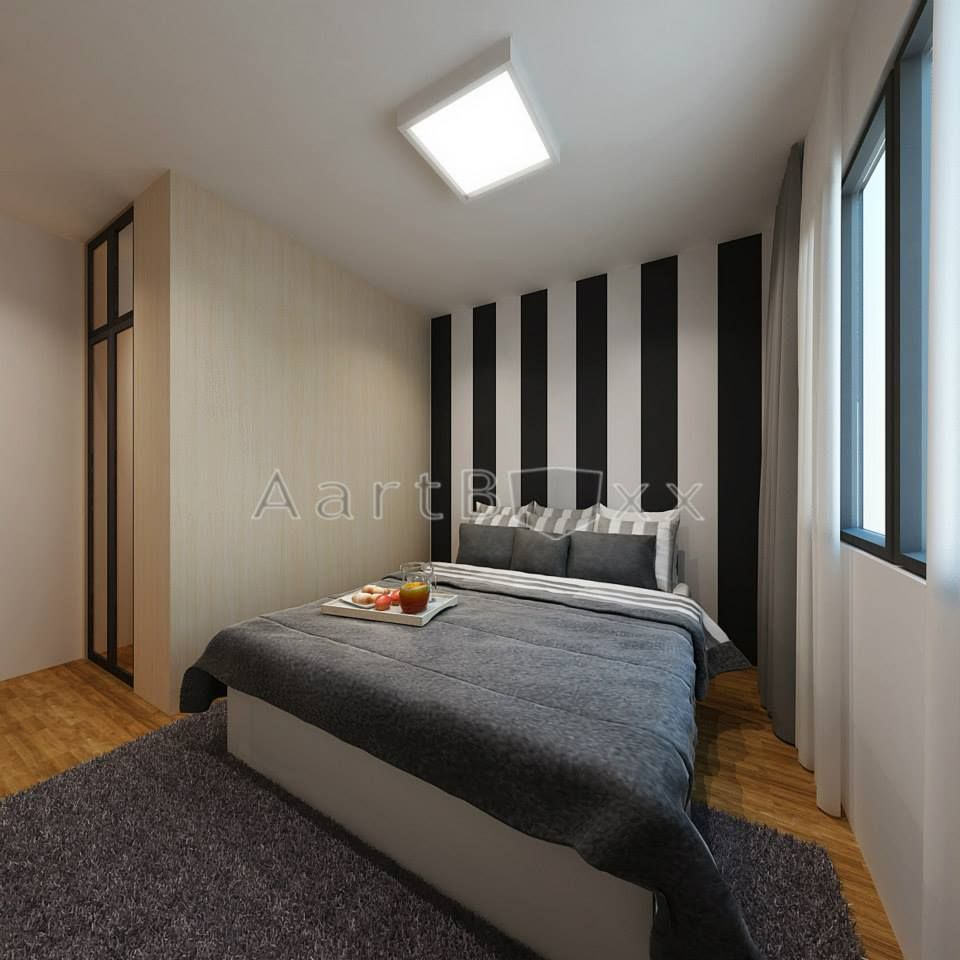 4 room bto master bedroom design  HDB BTO Room Anchorvale Cres Blk B  Interior Design Singapore