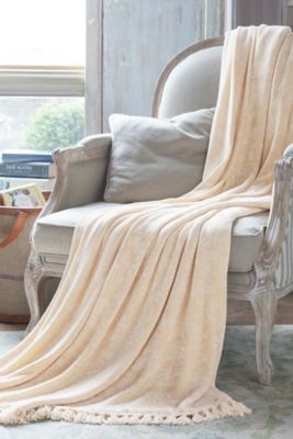 Sumptuous Chenille Blanket - Chenille Blanket, Fringe Chenille Blanket | Soft Surroundings