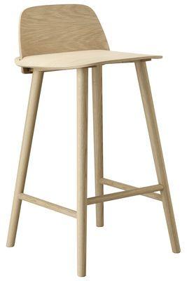 Chaise De Bar Nerd H 65 Cm Bois Idée Cuisine Mobilier Et Assises