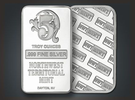 Silver Bullion Bars Rounds From Northwest Territorial Mint 1 Oz Silver Rounds And Half Oz Rounds Silver Bullion Silver Rounds Silver