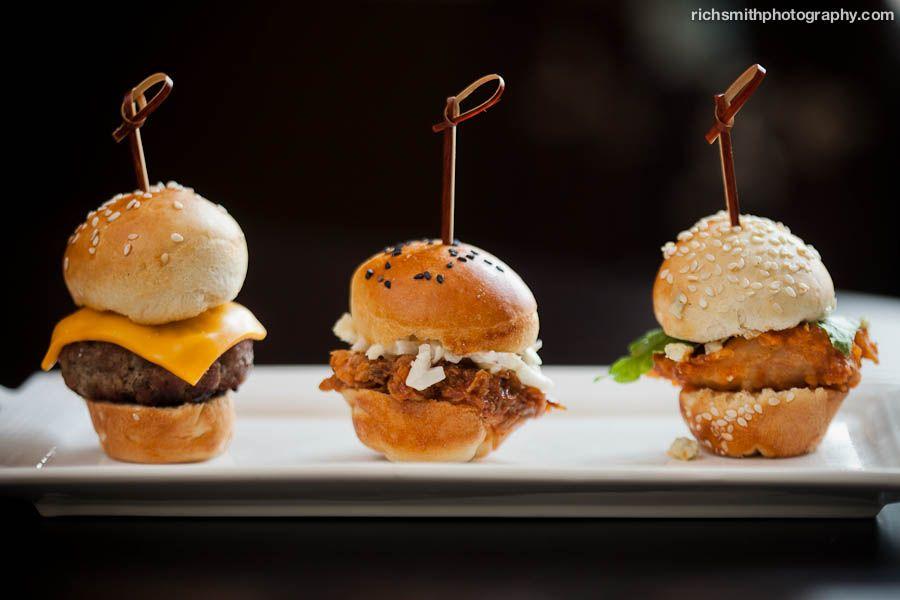 Mini Sandwiches Burgers, Barbecue, and Buffalo Chicken