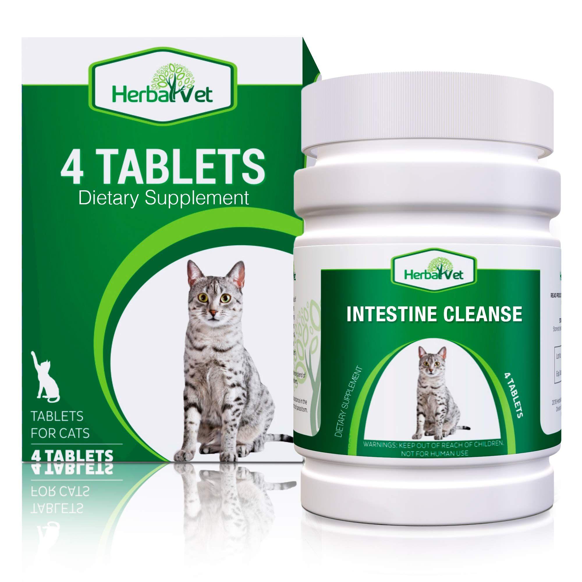 Herbalvet 10 tablets cat intestinal cleanse cat dewormer